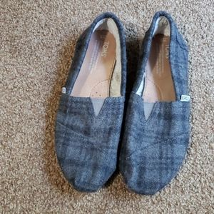 Tom's Faux Shearling Lining Eva Sole Flats